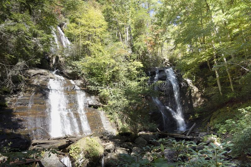 Waterfall in the Blue Ridge Mountains royalty free stock photography