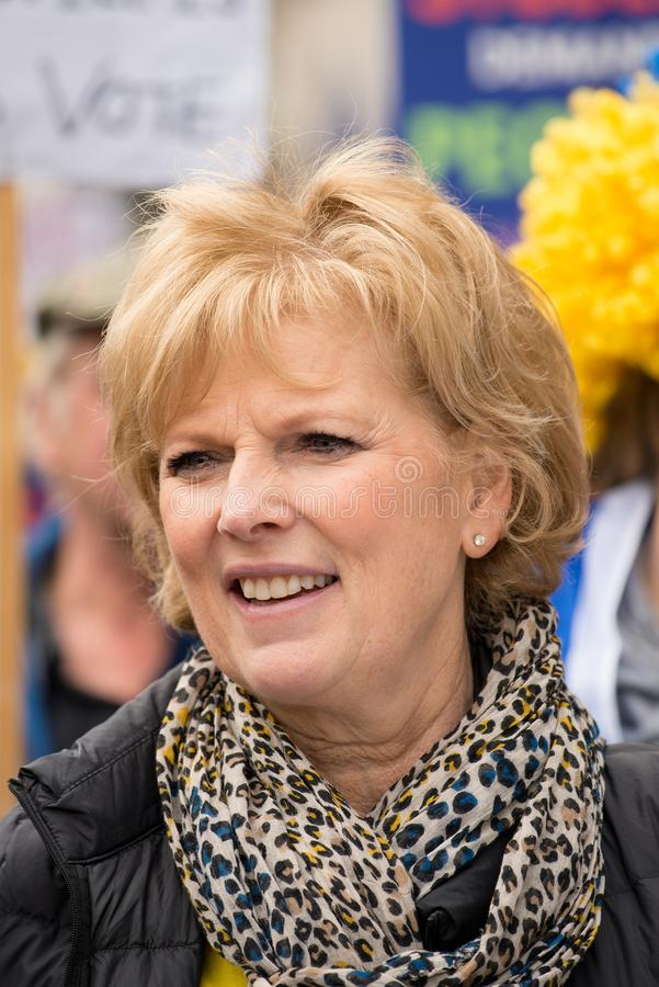 Anna Soubry MP at the `Put It To The People` protest demonstration. royalty free stock images