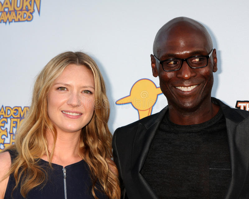 Anna Torv, Lance Reddick. LOS ANGELES - JUN 23: Anna Torv, Lance Reddick arriving at the 2011 Saturn Awards at Castaways on June 23, 2011 in Burbank, CA stock images