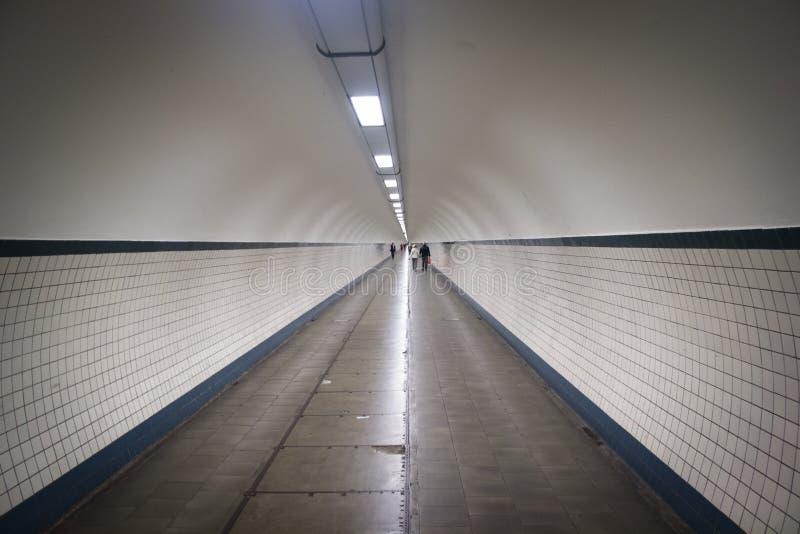 Anna tunel w Antwerp obrazy stock