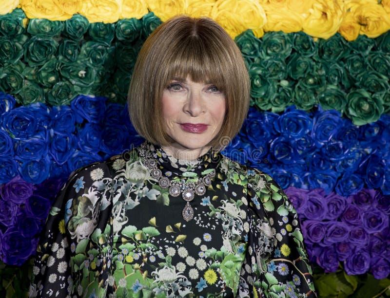 Anna Wintour en Tony Awards 2019 foto de archivo libre de regalías