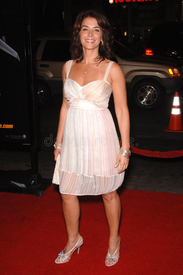Annabella Sciorra. Actress ANNABELLA SCIORRA at the Los Angeles premiere of Snakes on a Plane at the Chinese Theatre, Hollywood. August 17, 2006 Los Angeles, CA stock photo