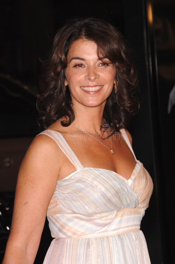 Annabella Sciorra. Actress ANNABELLA SCIORRA at the Los Angeles premiere of Snakes on a Plane at the Chinese Theatre, Hollywood. August 17, 2006 Los Angeles, CA royalty free stock image