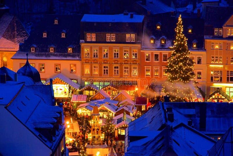 Annaberg-Buchholz Kerstmismarkt stock afbeelding