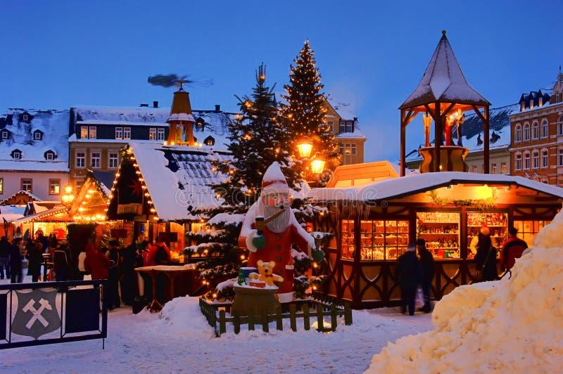 Annaberg-Buchholz Weihnachtsmarkt lizenzfreies stockbild