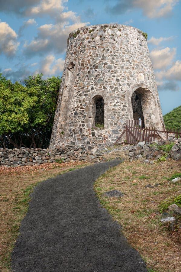 Annaberg Sugar Mill Ruins stock photo