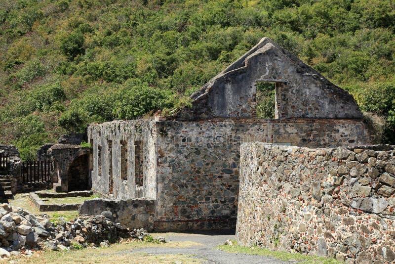 Annaberg Sugar Plantation em St John imagem de stock royalty free