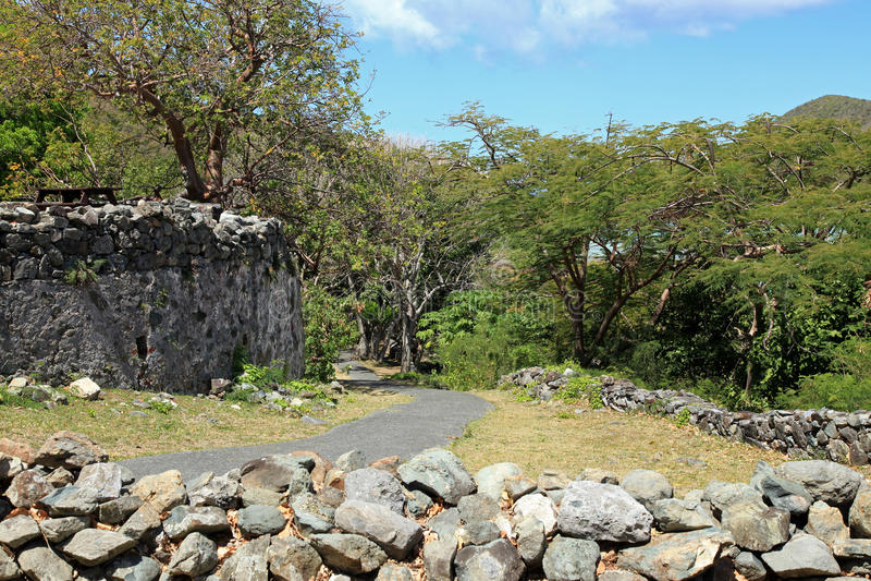 Annaberg Sugar Plantation em St John imagem de stock