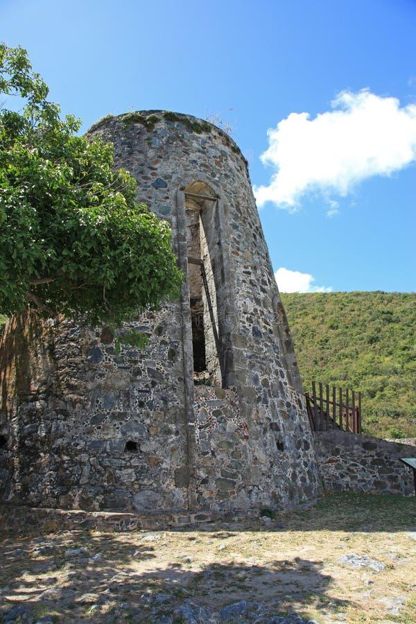 Annaberg Sugar Plantation in St John stock foto