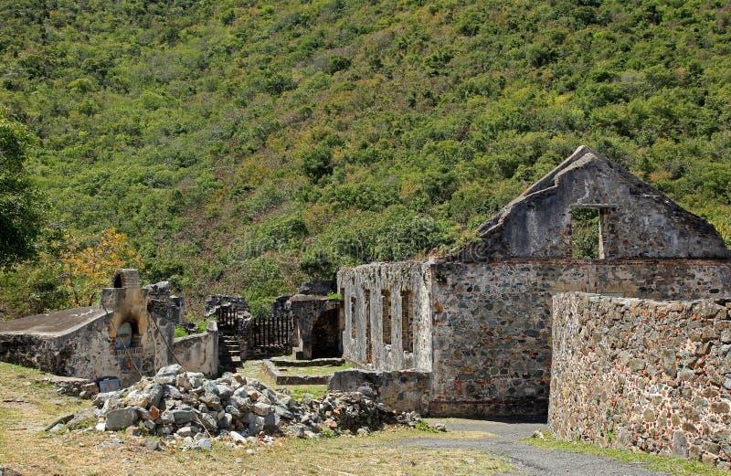 Annaberg Sugar Plantation in St John stock afbeeldingen