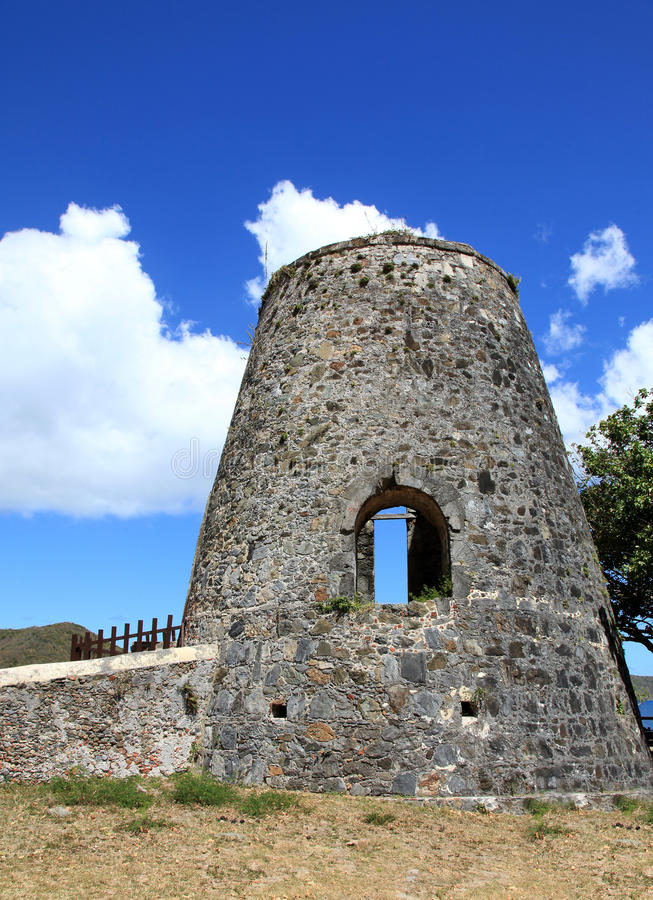 Annaberg Sugar Plantation in St John stock foto's