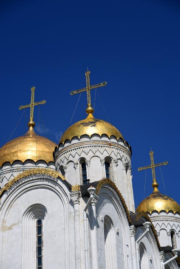 Annahme-Kathedrale in Vladimir, Russland lizenzfreie stockbilder