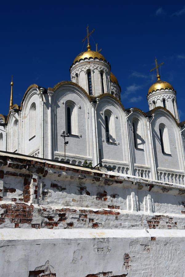 Annahme-Kathedrale in Vladimir, Russland lizenzfreie stockfotos