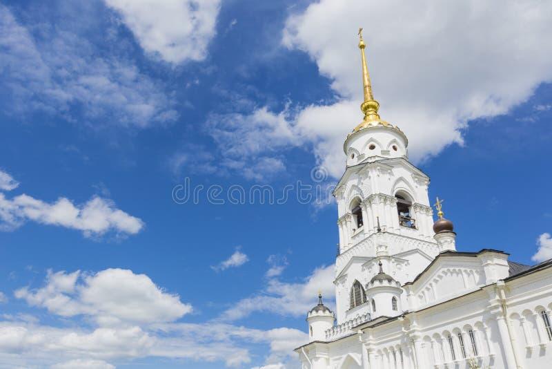 Annahmekathedrale bei Vladimir im Sommer, UNESCO-Welt Heritag lizenzfreie stockfotografie