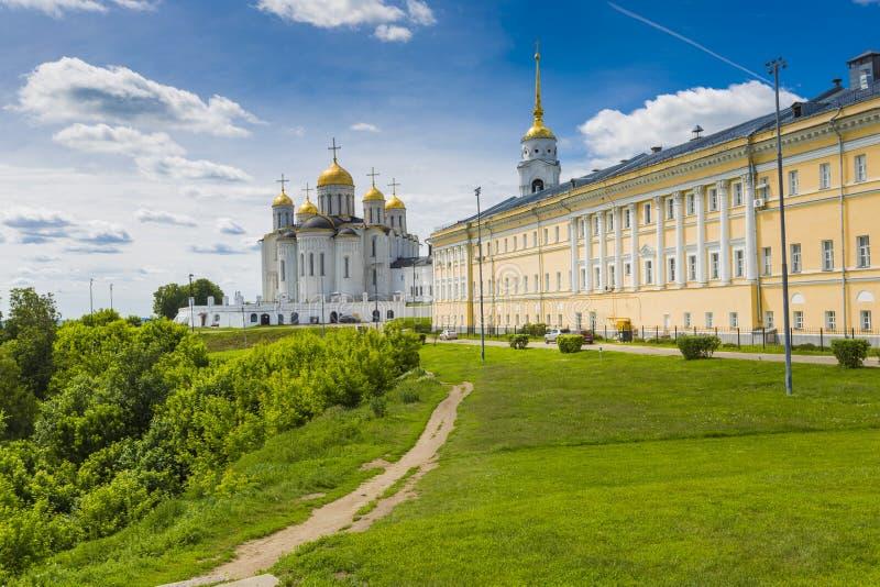 Annahmekathedrale bei Vladimir im Sommer, UNESCO-Welt Heritag lizenzfreie stockfotos