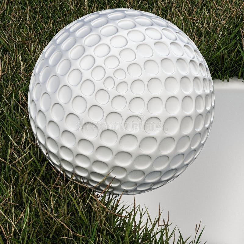 Annalkande hål för golfboll stock illustrationer