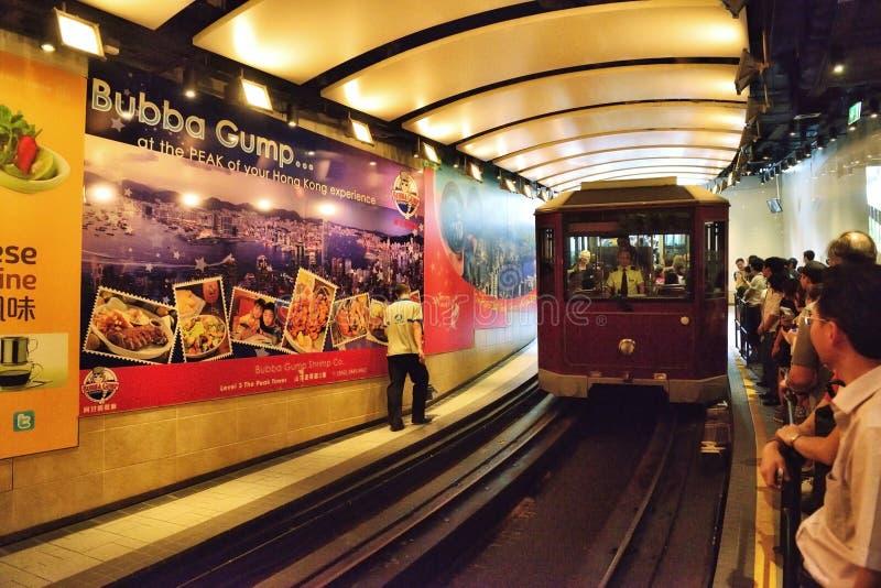 Annalkande station för maximal spårvagn, Hong Kong arkivbilder