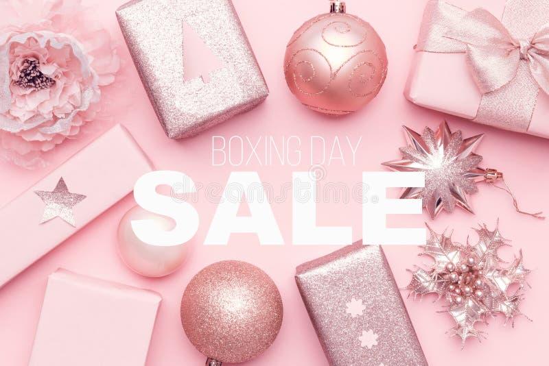 Annandagförsäljningsbakgrund shoppa för jul arkivfoton