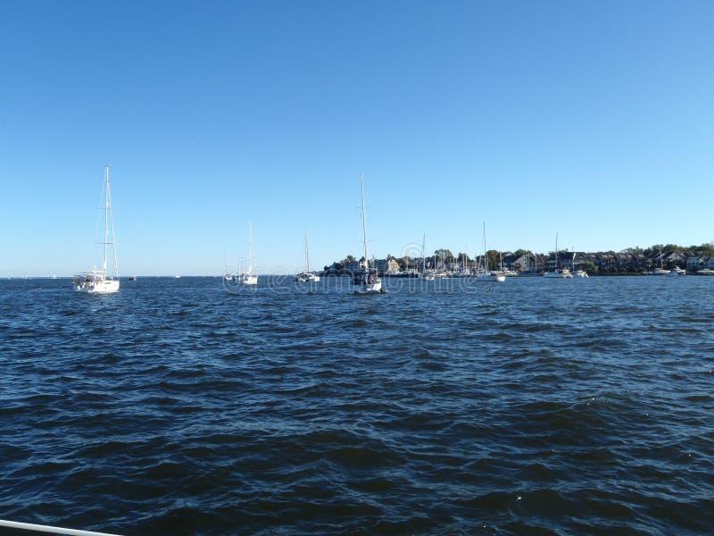 Annapolis in der Chesapeakebucht stockbild