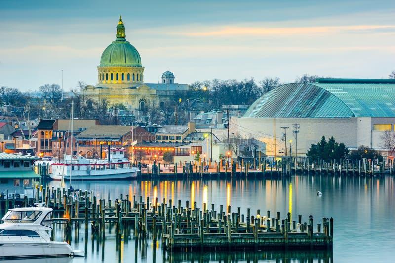 Annapolis en el Chesapeake imagen de archivo libre de regalías