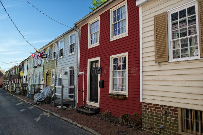Annapolis Maryland historical houses stock image