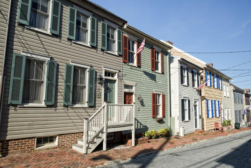 Annapolis Maryland historical houses royalty free stock image