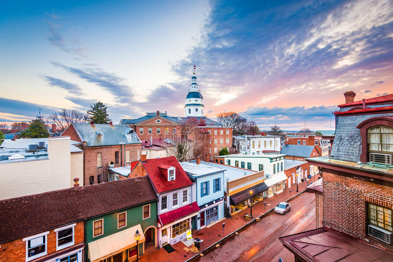 Annapolis, Maryland, U.S.A. immagini stock libere da diritti