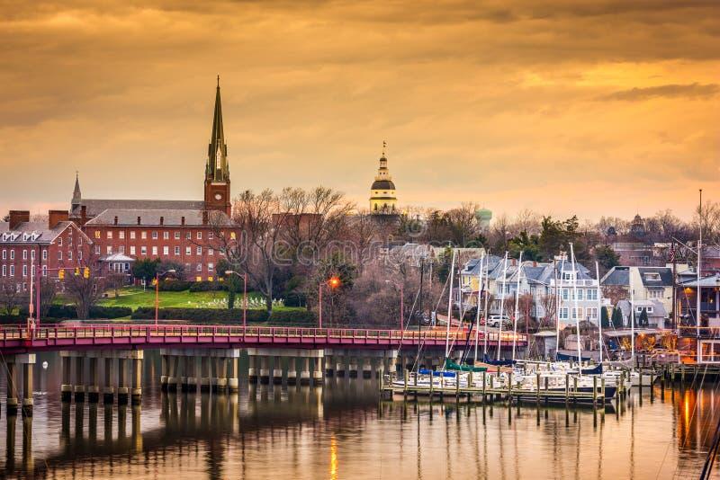 Annapolis-Skyline lizenzfreie stockfotos