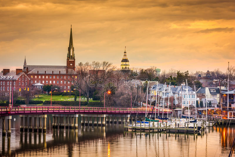 Annapolis Skyline Stock Photo Image 55155278