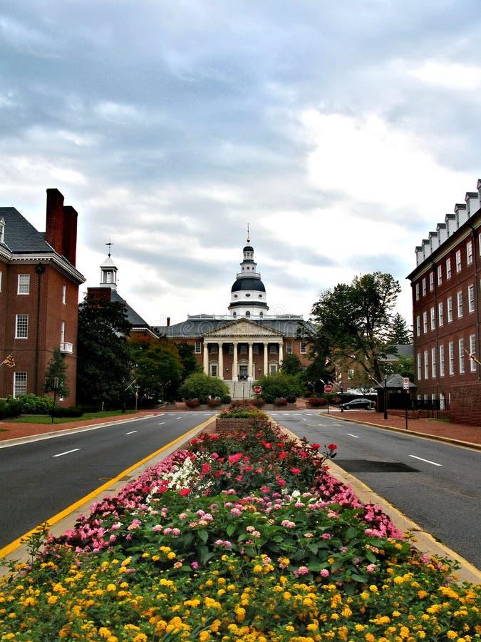 Annapolis - una città negli Stati Uniti, la capitale di Maryland fotografia stock libera da diritti