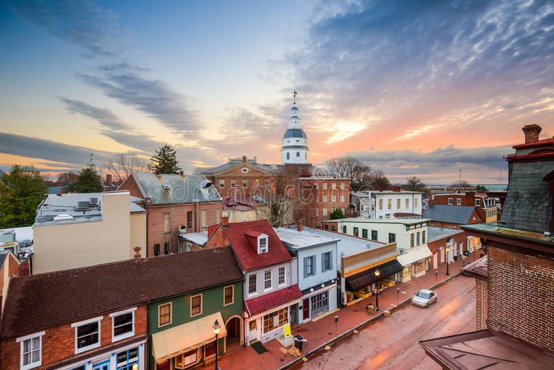 Annapolishorizon stock foto's