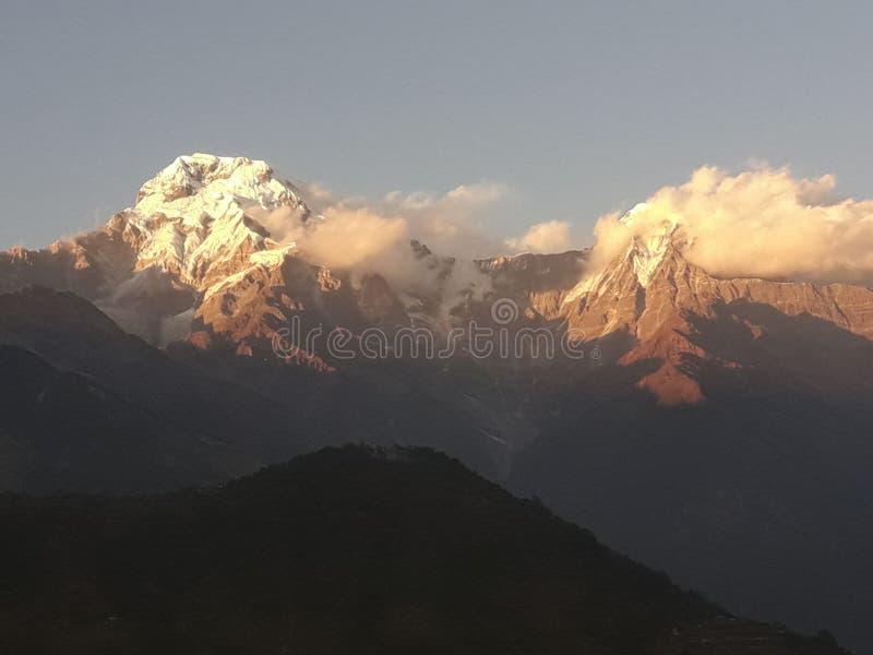 Annapurna himal de Nepal foto de archivo libre de regalías