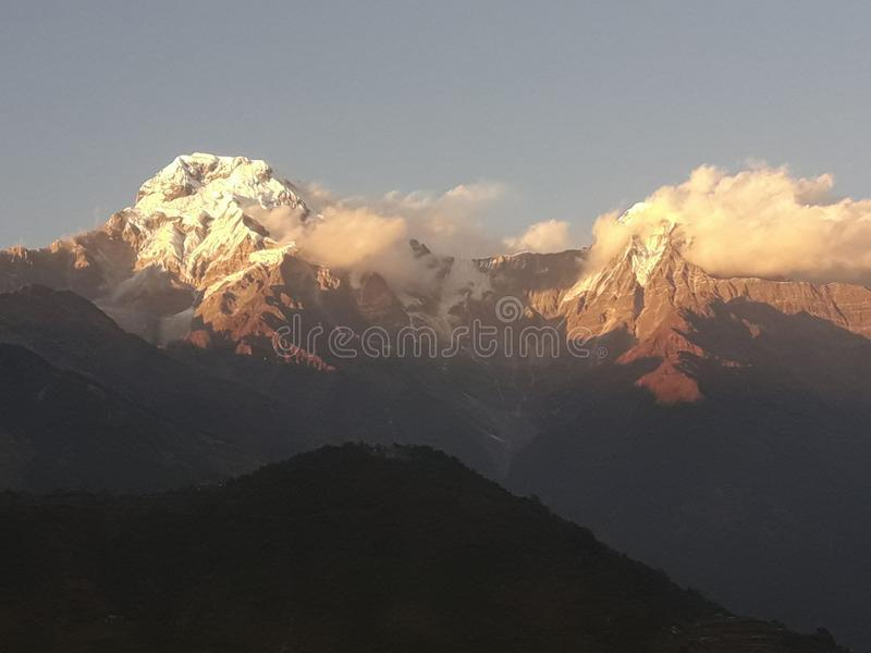 Annapurna himal of nepal royalty free stock photo