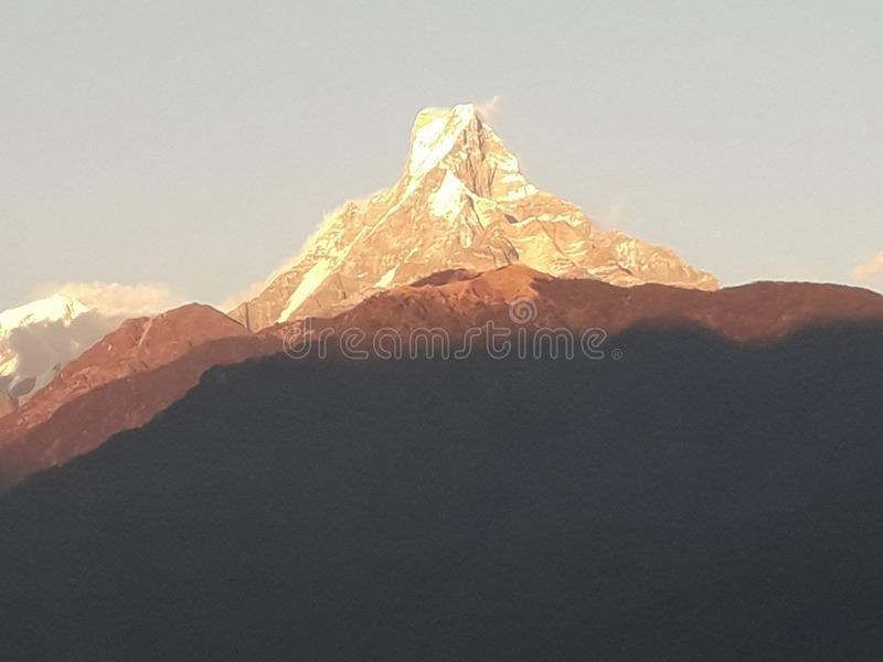 Annapurna himal of nepal of pokhara royalty free stock photography
