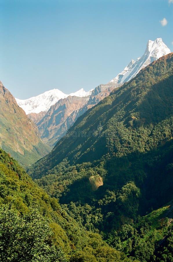 Annapurna Himalaya Mountains, Nepal royalty free stock photography