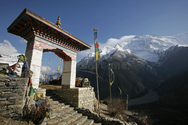 Annapurna monastery royalty free stock photos
