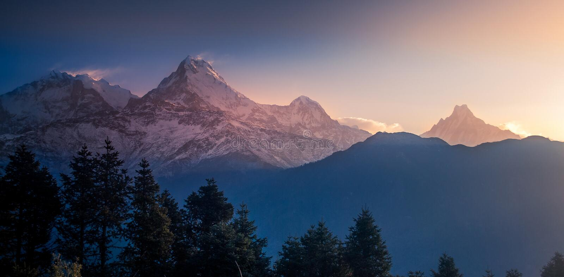 Annapurna Mountain Range royalty free stock image