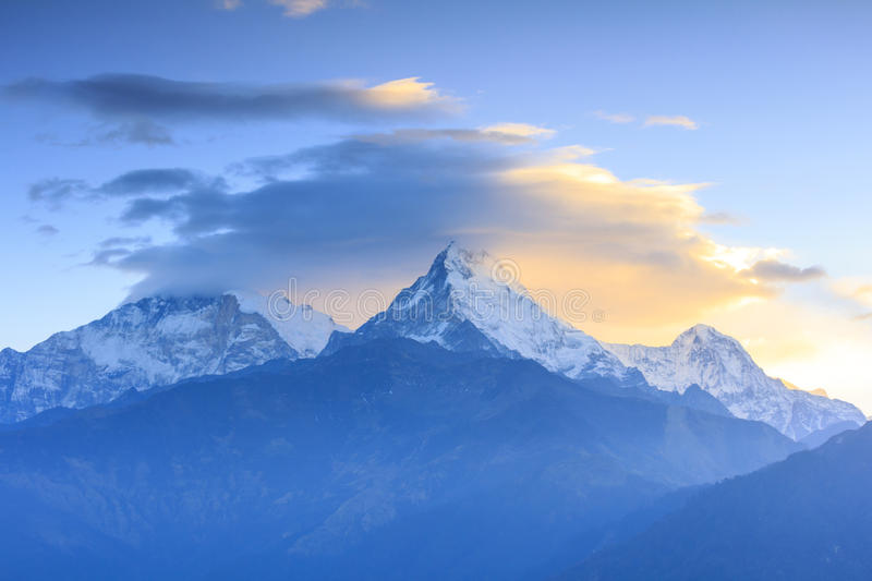 Annapurna Mountain Range With Sunrise View From Poonhill ...