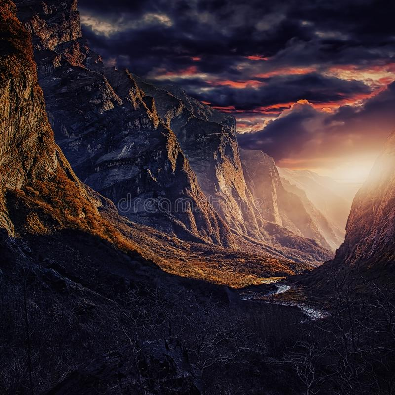 Annapurna-Naturschutzgebiet lizenzfreie stockfotografie