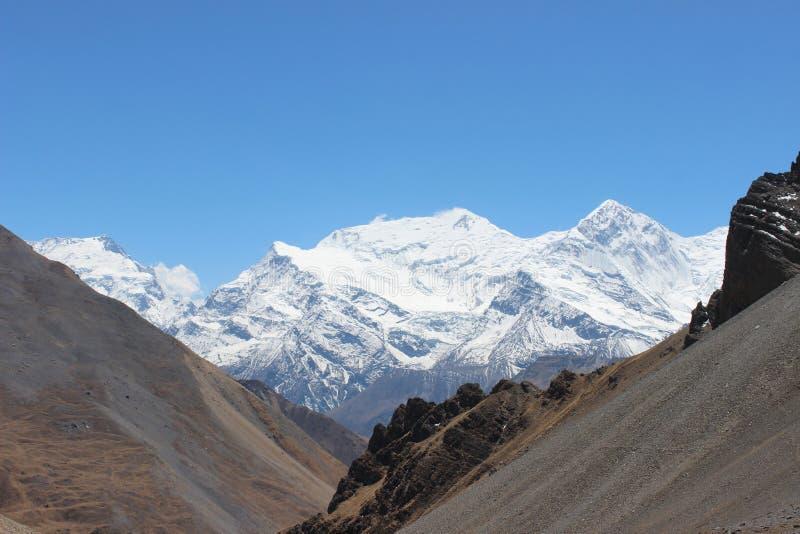 Annapurna område fotografering för bildbyråer