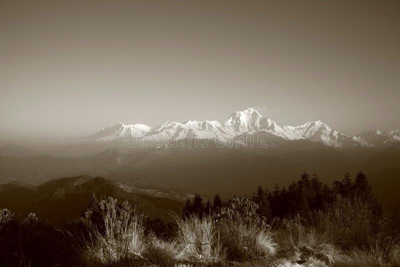 Annapurna panorama royalty free stock photos