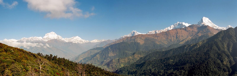 Annapurna Panorama, Nepal stock photo