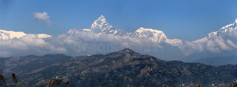 Annapurna panoramico immagini stock libere da diritti