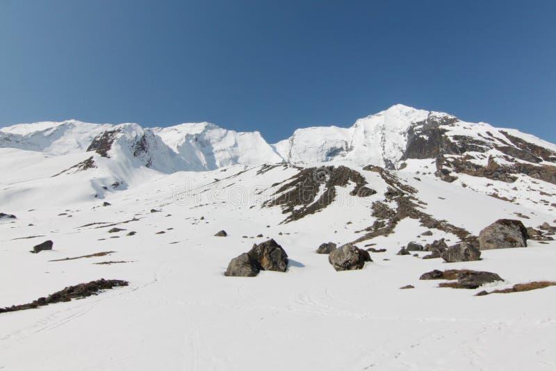 Annapurna podstawowy obóz zdjęcie royalty free