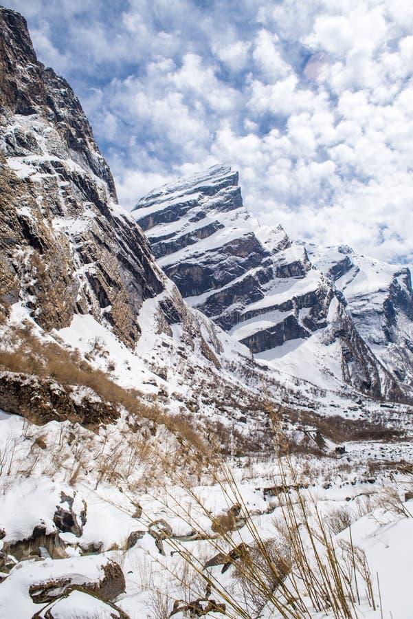 Annapurna que trekking, Nepal imagens de stock