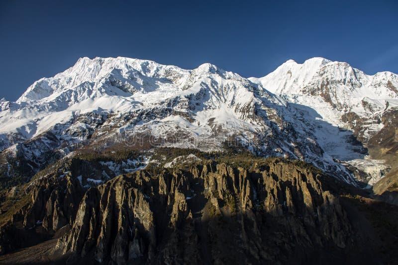 Annapurna Reichweite lizenzfreie stockfotografie