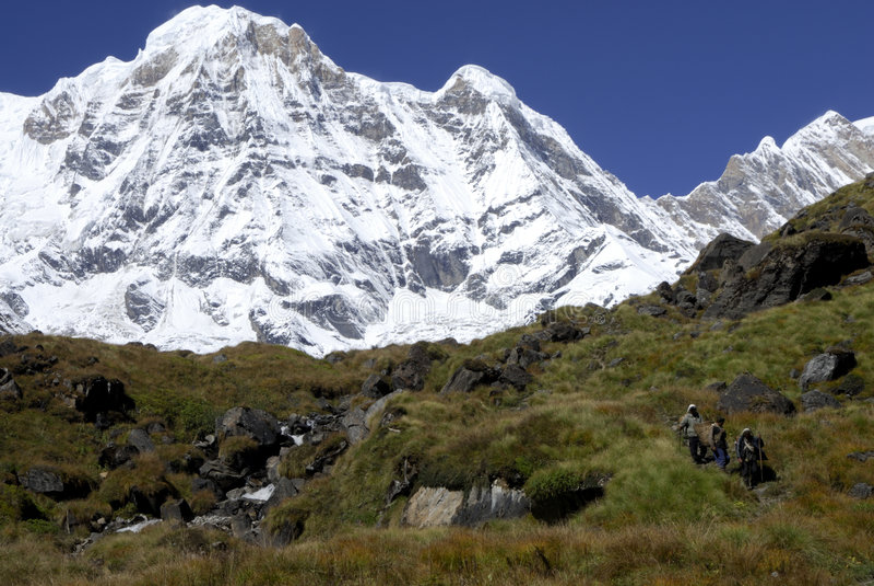 Download Annapurna South stock photo. Image of annapurna, walking - 3418060