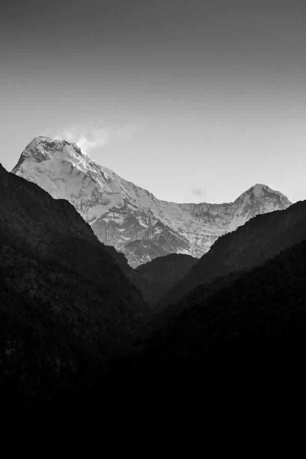 Annapurna South and Hiunchuli stock photos