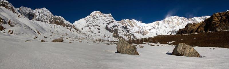 Annapurna sunrise panorama royalty free stock images