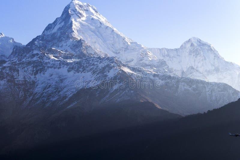 Annapurnauitzicht, Poon Hill, Nepal stock fotografie